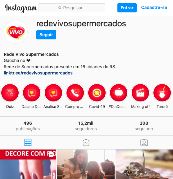 Instagram Rede Vivo
