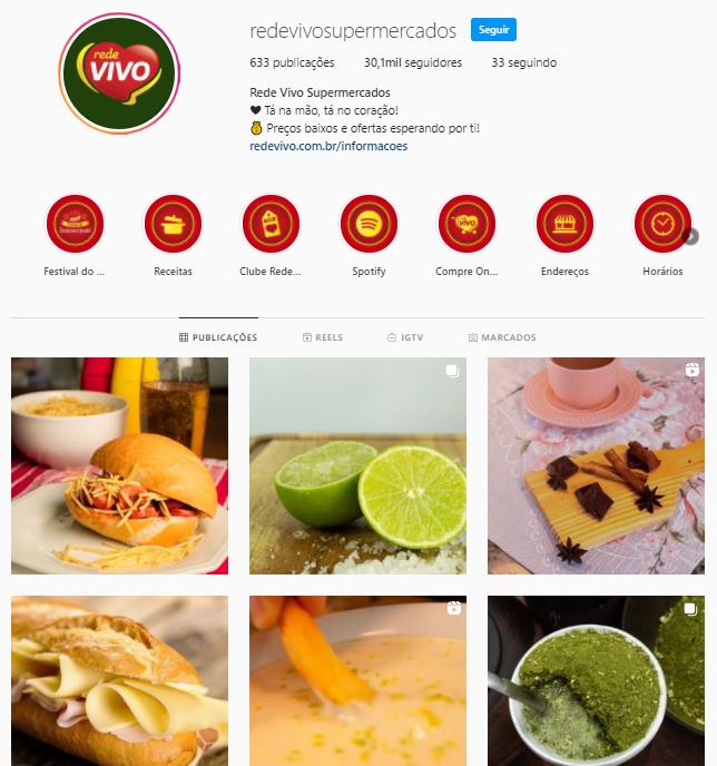 Instagram Rede Vivo