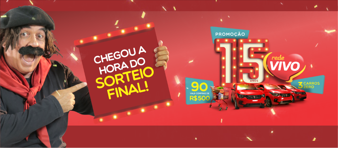 Chegou a hora do sorteio final