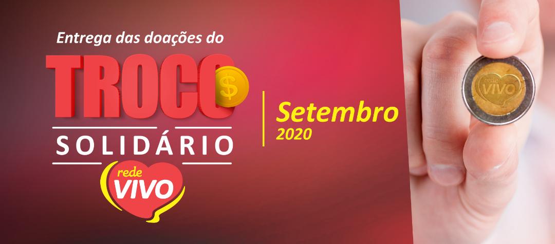 Entrega das doações do Troco Solidário de setembro/2020