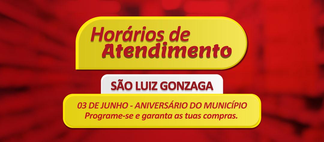 Aniversário de São Luiz Gonzaga – 03 de junho.