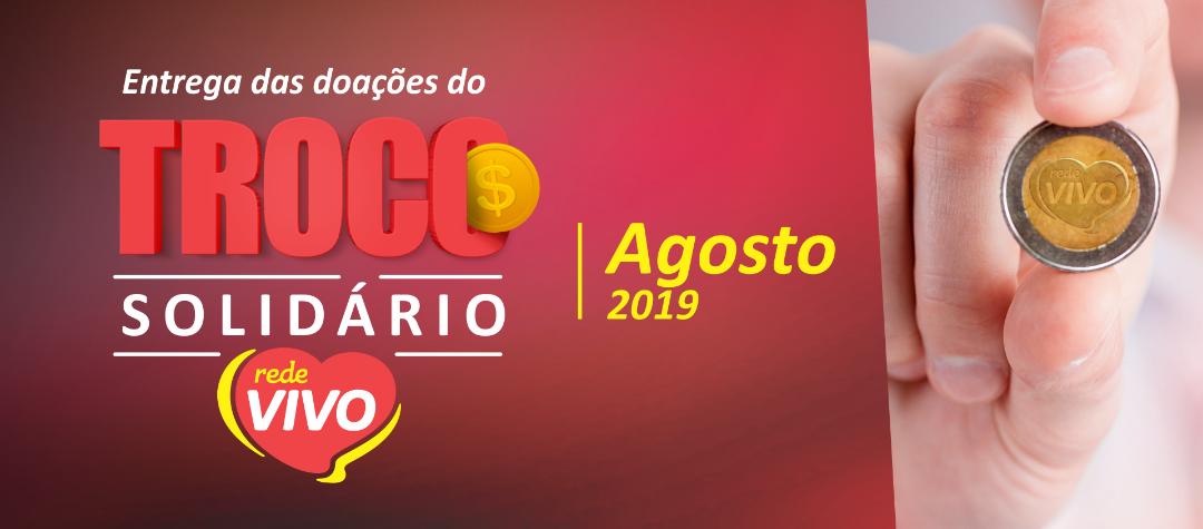 Entrega das doações do Troco Solidário de Agosto /2019