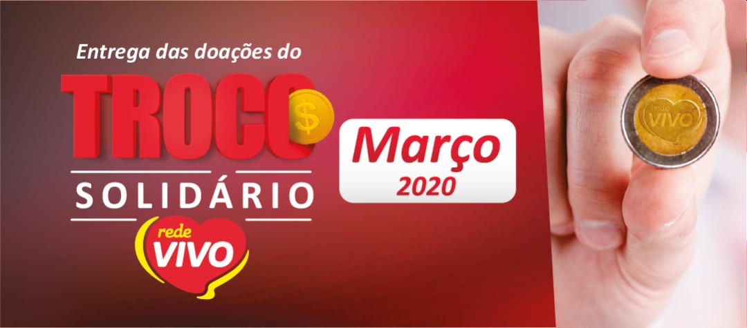 Entrega das doações do Troco Solidário de março/2020