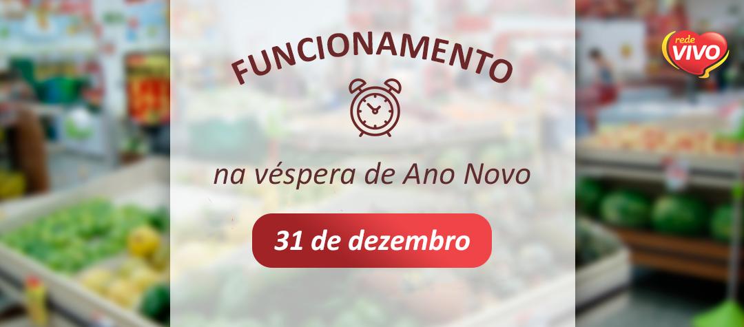 Funcionamento dos supermercados na véspera de Ano Novo