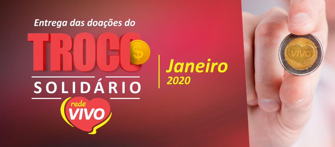 Entrega das doações do Troco Solidário de janeiro/2020