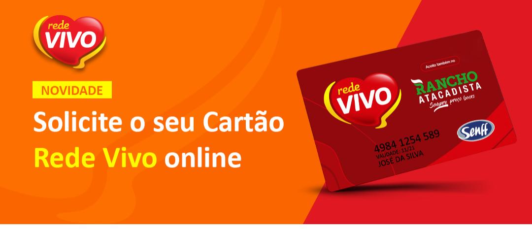 Cartão Rede Vivo agora pode ser solicitado on-line