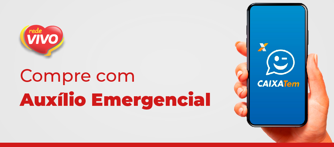 Pague as compras com Auxílio Emergencial na Rede Vivo